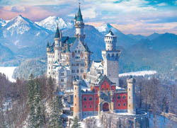 Neuschwanstein Castle in Winter Germany Jigsaw Puzzle