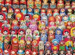 Russian Matryoshka Dolls Europe Jigsaw Puzzle
