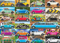 VW Beetle Gone Places Cars Jigsaw Puzzle