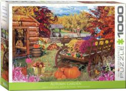 Autumn Garden Flowers Jigsaw Puzzle