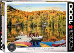 Lakeside Cottage, Quebec Lakes / Rivers / Streams Jigsaw Puzzle