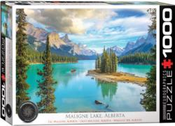 Maligne Lake, Alberta Lakes / Rivers / Streams Jigsaw Puzzle