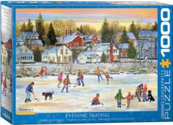 Evening Skating Sports Jigsaw Puzzle