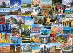 Globetrotter South America Collage Impossible Puzzle