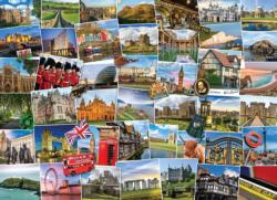 Globetrotter United Kingdom Collage Impossible Puzzle