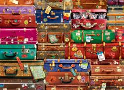 Travel Suitcases Collage Jigsaw Puzzle