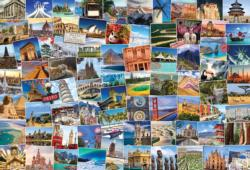 Globetrotter World Collage Jigsaw Puzzle