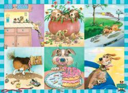 Puppy Trouble Cartoons Children's Puzzles