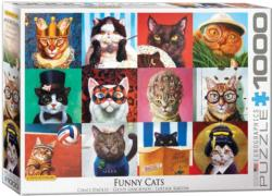 Funny Cats Collage Jigsaw Puzzle