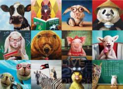 Animal Portraits - Scratch and Dent Collage Jigsaw Puzzle