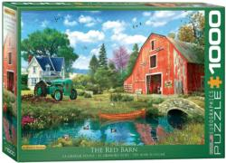 The Red Barn Landscape Jigsaw Puzzle