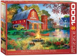 Old MacDonald's Farm Store Landscape Jigsaw Puzzle