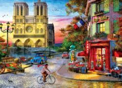 Notre Dame Sunrise / Sunset Jigsaw Puzzle
