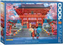 Spring Sakura Asia Jigsaw Puzzle