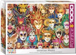 Venetian Masks Collage Impossible Puzzle