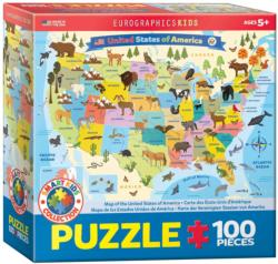 United States Map Illustrated United States Jigsaw Puzzle