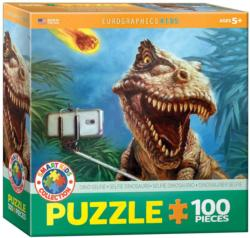 Dinosaur Selfie Dinosaurs Jigsaw Puzzle
