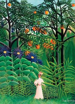 Woman in an Exotic Forest Post Impressionism Jigsaw Puzzle