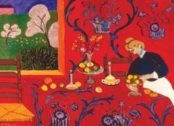 Harmony in Red Contemporary & Modern Art Jigsaw Puzzle