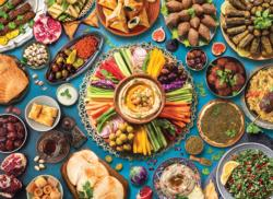 Middle Eastern Table Food and Drink Jigsaw Puzzle