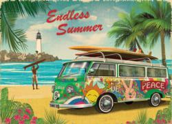 VW Endless Summer Nostalgic / Retro Jigsaw Puzzle