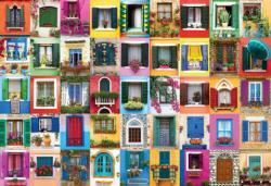 Mediterranean Windows Domestic Scene Jigsaw Puzzle