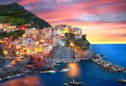 Manarola at Dusk, Italy Italy Jigsaw Puzzle