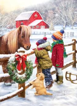 Christmas Pony Christmas Jigsaw Puzzle
