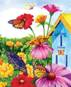 Butterfly Homecoming Flowers Jigsaw Puzzle