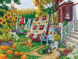 Country Autumn Sunflower Jigsaw Puzzle