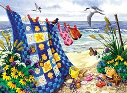 Seaside Summer Crafts & Textile Arts Large Piece