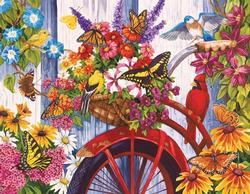 The Old Bicycle and Friends Spring Large Piece