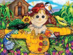 Scarecrow and Blackbird Birds Jigsaw Puzzle