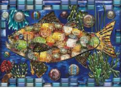 Mosaic Fish Collage Jigsaw Puzzle