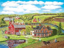 Spring Plowing Farm Jigsaw Puzzle