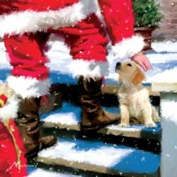 Christmas Greeting Snow Jigsaw Puzzle