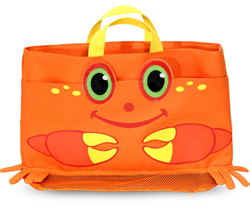 Clicker Crab Beach Tote Bag Toy