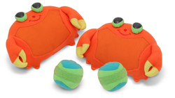 Clicker Crab Toss & Grip Toy