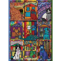 Family Portrait Dogs Jigsaw Puzzle