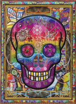 Rainbow Skull Collage Impossible Puzzle