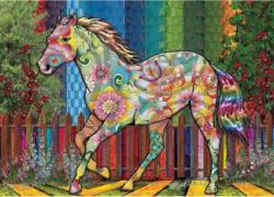 Flower Horse Flowers Jigsaw Puzzle