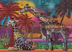 Rainbow Giraffes Africa Jigsaw Puzzle