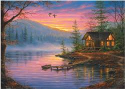 Cabin Scene Sunrise / Sunset Tin Packaging