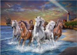 Horses on Seashore Horses Tin Packaging
