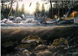Fishing the Falls Lakes / Rivers / Streams Tin Packaging