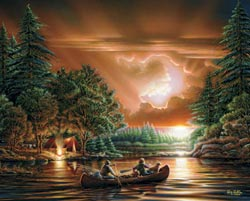 Evening Rendezvous (Terry Redlin Collection) Countryside Jigsaw Puzzle