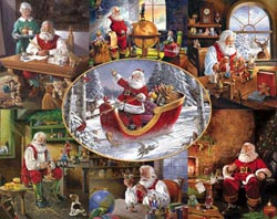 Merry Christmas to All! Santa Jigsaw Puzzle