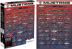 Mustang Evolution Nostalgic / Retro Jigsaw Puzzle