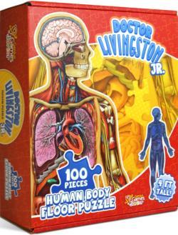 Dr. Livingston Jr. Human Body Floor Puzzle Anatomy & Biology Children's Puzzles