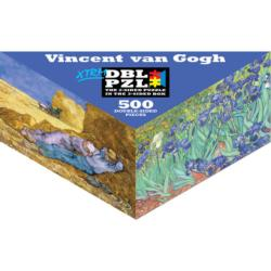 Vincent Van Gogh Flowers Triangular Puzzle Box